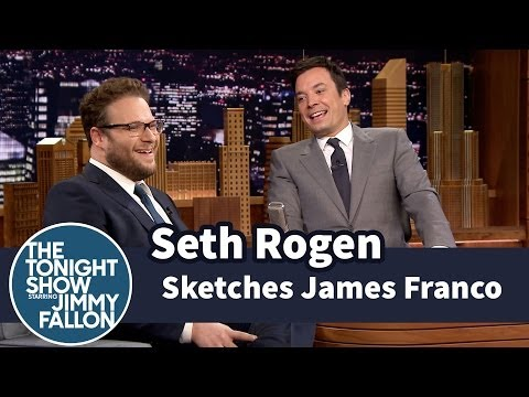 Seth Rogen Sketches a James Franco Portrait