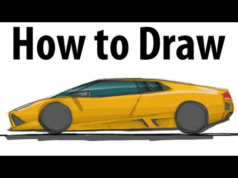 How to draw a Lamborghini Murciélago - Sketch it quick ...