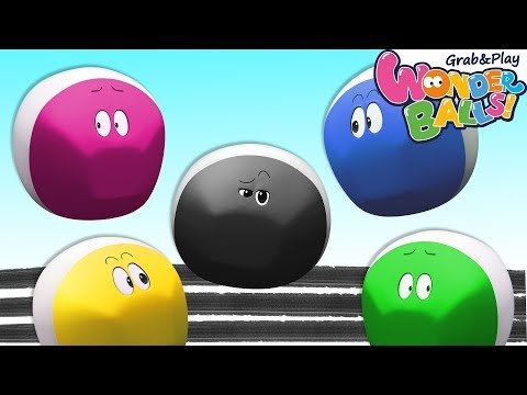 Colors With Squishy Running Crayons Vs Funny WonderBalls Shows For Kids | Cartoon Animation