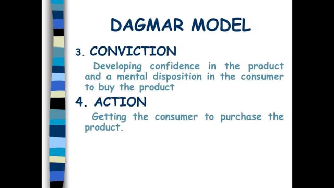 aida and dagmar models of advertising The aida model is the oldest and best-known pyramid model in advertising research dagmar is also a hierarchical advertising model.
