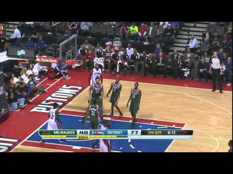Detroit Pistons Vs Milwaukee Bucks Highlight