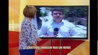 Telespectadora denuncia crateras em rua de Ribeir�o das Neves