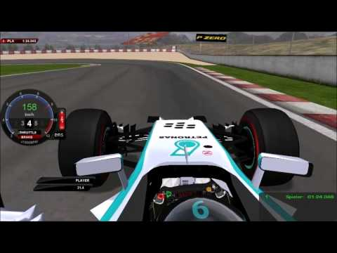 F1 2014 spanish grand prix spanien grand prix spain gp spanien gp on board one lap Rosberg rfactor