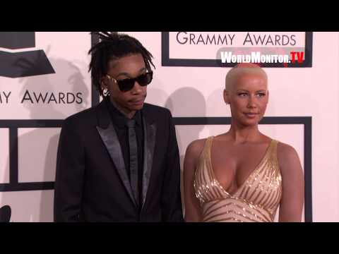 Amber Rose and Wiz Khalifa arrive at 56th Annual GRAMMY Awards Redcarpet