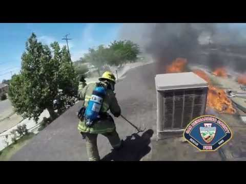 Helmet cam and radio traffic: Calif. house fire