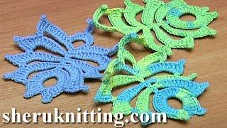 Feather Leaf Crochet Tutorial 26