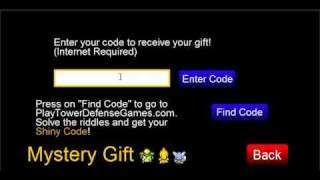 Pokemon Tower Defense Shiny Charmander Code For Mystery Gift
