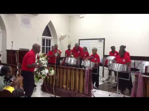 Salem Baptist Church Jamaica  Steel Pan Ensemble.  Happy Wonderer