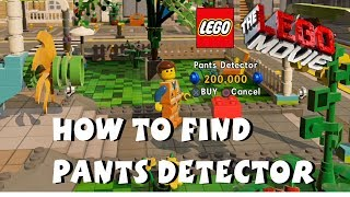 The Lego Movie Videogame - How to Unlock Pants Detector Red Brick PS4 1080P
