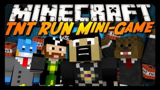 Minecraft Mini-Game: TRICKY TNT RUN! w/ AntVenom & Friends!