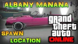 GTA 5 Online- Rare Cars! Albany Manana Spawn Location