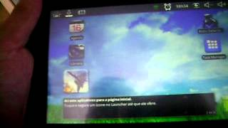 Video Aula 2 Tablet Android 2.2 Tela Incial Como Usar