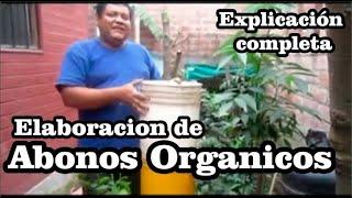 Elaboración de abonos orgánicos