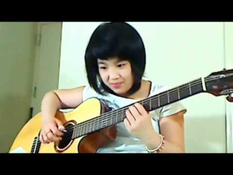 Bé gái 10 tuổi chơi guitar nhạc Trịnh cực  đỉnh