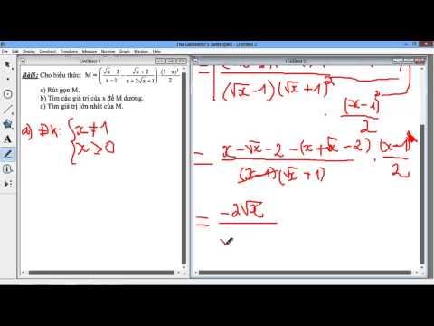 [9] Chuyên đề căn thức - Bài luyện tập - Bài 5 Dạng tìm giá trị lớn nhất của biểu thức M