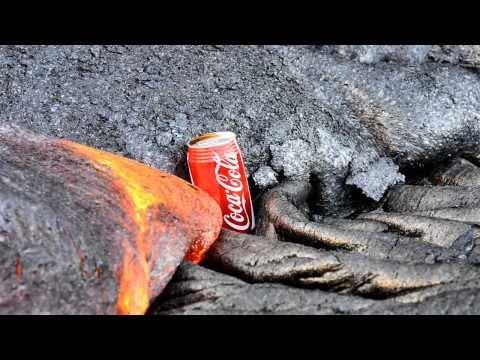 Coca-Cola vs láva, tak to je přísné! :-O