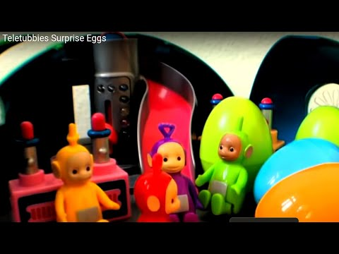 Teletubbies open surprise eggs