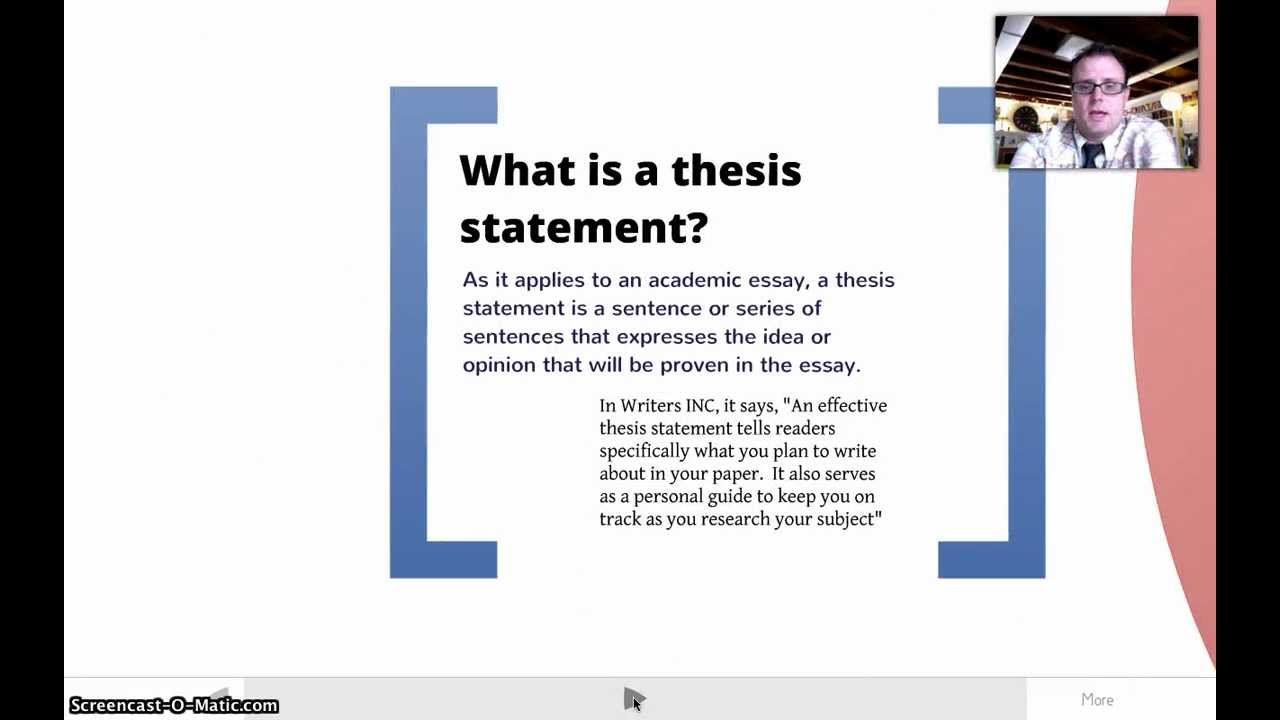 developing a thesis statment