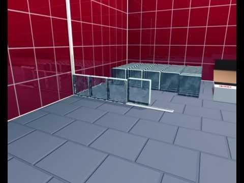 Block lock system montage glasbausteine - Wand aus glasbausteinen ...