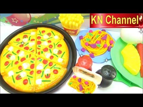 Đồ chơi trẻ em Play-doh Bé Na nặn đất sét mì ý và Pizza Lunch time  Kids toys
