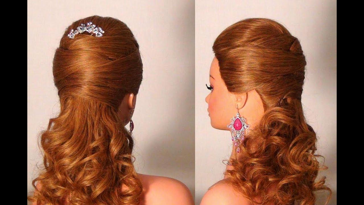 вечерние красивые простые прически на длинные волосы фото