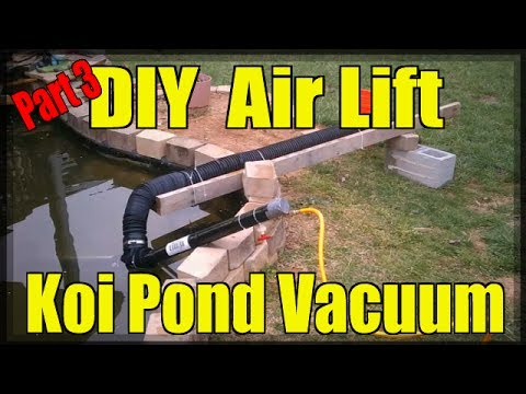 Diy air lift koi pond vacuum part 3 3 youtube for Koi pond vacuum