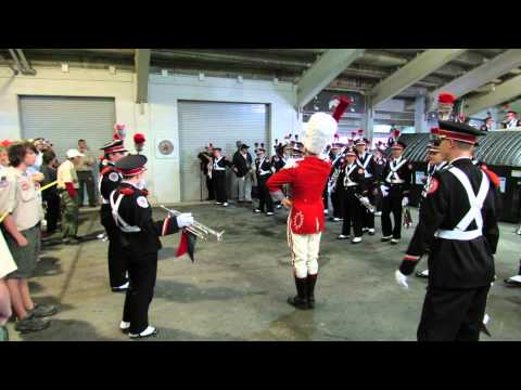 OSUMB 9 21 2013 Drum Major David Pettit performs the Three Knocks Ritual pregame OSU vs Florida A M