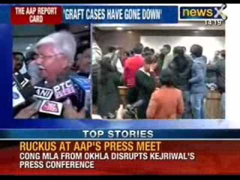 Congress MLA Asif Mohammed Khan creates ruckus at AAP's press conference - NewsX