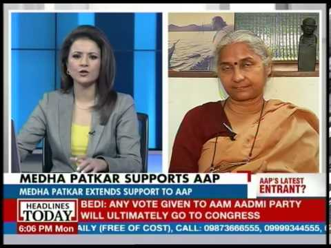 Medha Patkar talks about the alliance with AAP