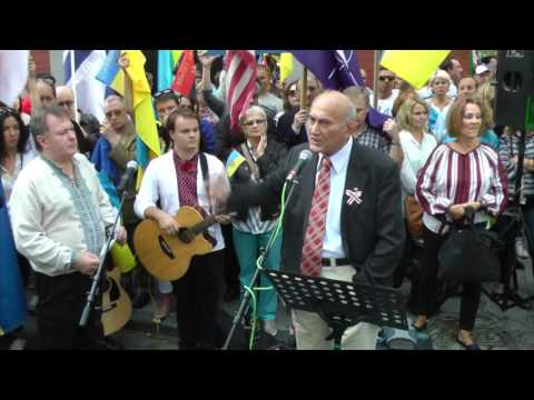 Выступ Пазьняка з нагоды прыезду Пуціна і Лукашэнкі на сэсію ААН