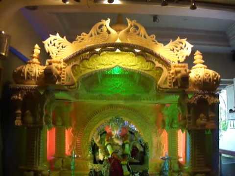 Vaishnavsai Ganpati Decoration 2012 Youtube