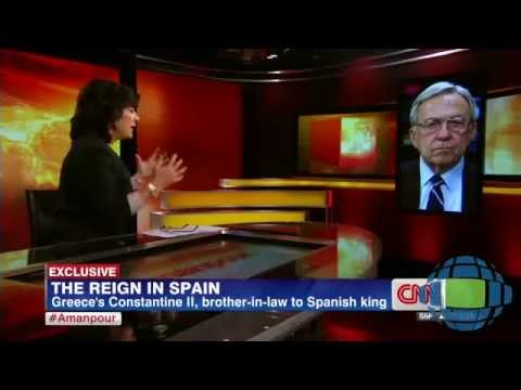 HM King Constantine on Christiane Amanpour regarding the abdication of the King of Spain