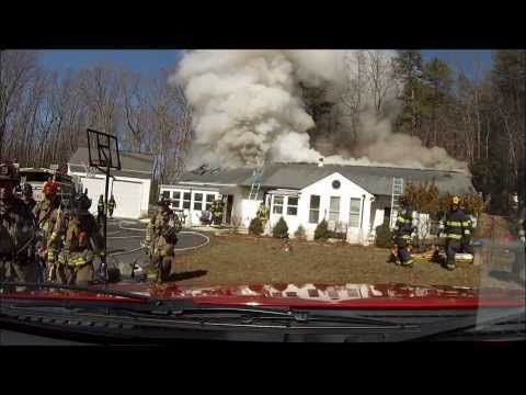 Helmet cam: House fire in Md.