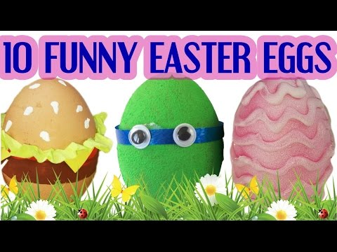 10 FUNNY DIY ways to decorate EASTER EGGS