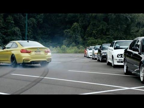 فيديو: بي إم دبليو M4 تتألق في الدريفت بين 52 سيارة من العلامة البافارية