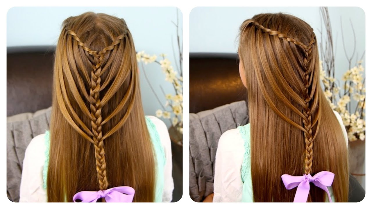 Waterfall Twists into Mermaid Braid | Cute Girls Hairstyles - YouTube