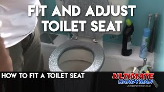 How to adjust or fit a toilet seat