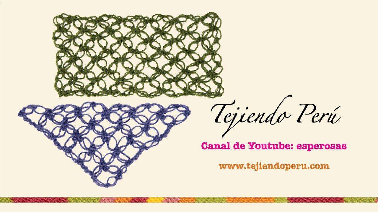 Nudo salomón en crochet (tejido recto y en triángulo) - YouTube