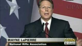 NRA's Wayne LaPierre CNN Fakes News Assault Weapons Ban