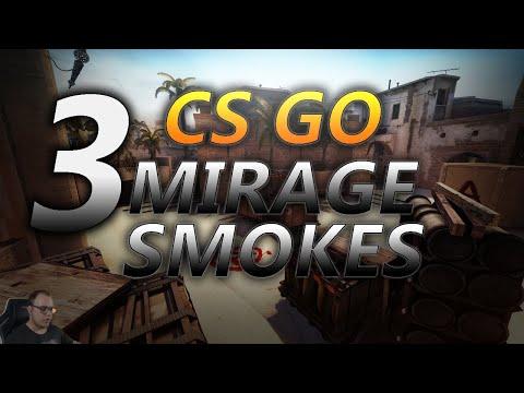 CS GO | 3 Essential Smokes To Take Over A-site On Mirage + tips