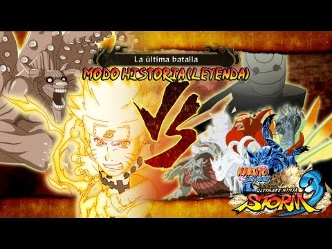 Naruto Ultimate Ninja Storm 3 Full Burst |Capitulo Final Naruto Vs Bijuus Tobi Gameplay Español