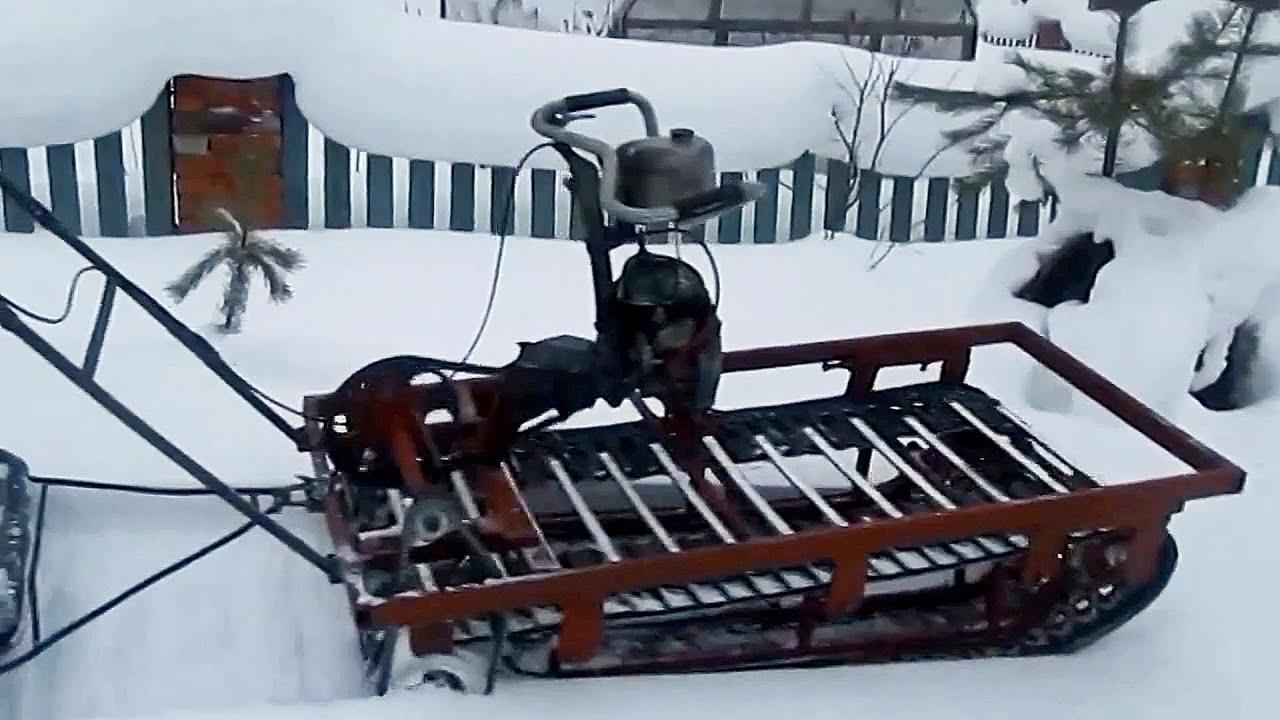 Как сделать самодельную гусеницу для снегохода своими руками видео