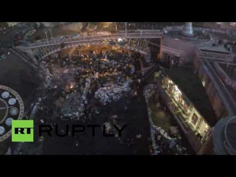 Ukraine: Drone shows full scale of the Kiev protests