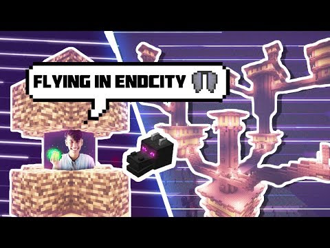 Minecraft Flying in Survival using Elytra and Finding EndCity || FUNNY MINECRAFT PE HindI GAMEPLAY