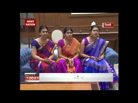 Bharat Ratna MS Subbulakshmi's great-grand-daughters meet PM Narendra Modi