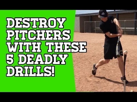 How To: 5 DEADLY Baseball Hitting Drills To CRUSH Pitchers!