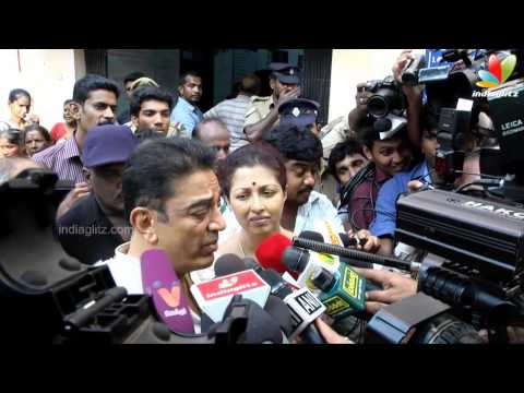 Actor Kamal Hassan and Gauthami Casted their Vote | Election 2014