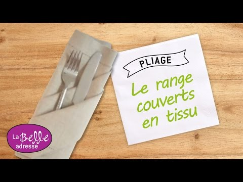 Cr er un range couverts en tissu pliage de serviette youtube - Pliage serviette facile range couverts ...