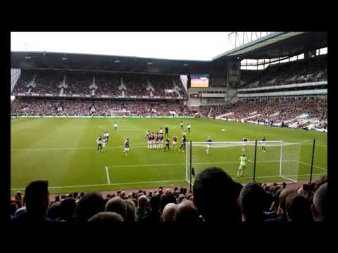 Everton V West Ham BOTH of Baines free kick 21/9/13