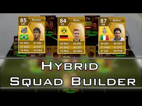 Hybrid Squad Builder 170k / Equipo Neymar, Reus, Buffon y Chiellini